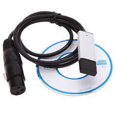 USB vers DMX Interface Adaptateur LED DMX512 Ordinateur PC Lighting Télécommande