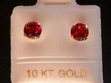 Feinste Granat Ohrstecker - 1,25 ct. - 10 Kt. Weiß Gold - 417 - Brillant Schliff