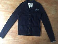 Hollister Men's Preppy Wool Blend Cardigan Navy Blue Size S VGC Button Up V Neck