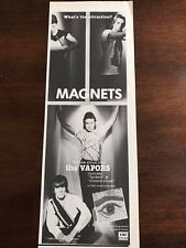 "1981 Vintage 4X11 Promo Print Ad For The Vapors New Album Called ""Magnets"""