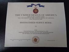 ^(U012) Original US Urkunde Diplome Certificate Distinguished Service Medal NAVY