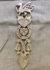 Wooden love spoon, Made in Wales, any occasion, wedding anniversary, engravedL87