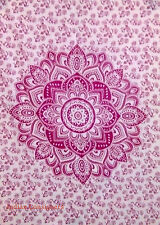 Wall Hanging Poster 40*30 Ethnic Throw Pink Ombre Mandala Cotton Tapestry Hippie