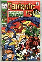 Fantastic Four #89-1969 fn- Jack Kirby Mole Man