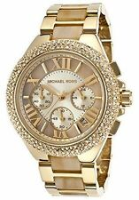BRAND NEW WOMENS MICHAEL KORS (MK5902) GOLD HORN ACETATE CAMILLE WATCH