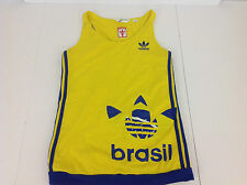 Adidas Yellow & Blue Brasil Tank Top Shirt -Women's Size Medium