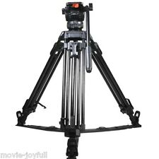 "V8L 65"" Professional Aluminum Video Tripod Fluid Head Load 8KG for TILTA HDV"