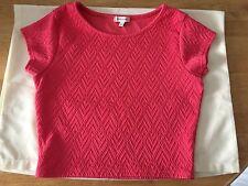 River Island Women Pink Short Sleeve Waist Pattern Top Size 8 UK Very Beautiful