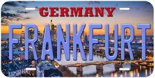 Frankfurt Germany Aluminum Novelty Car License Plate P01