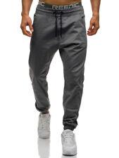 Men's Twill Jogger Pants Urban Hip Hop Harem Casual Trousers Slim Fit Elastic