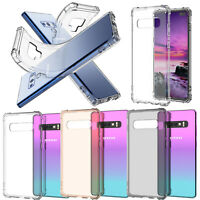 Shockproof Transparent Clear Soft TPU Cover Case For Samsung Galaxy S10 Plus S10