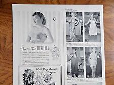 1940 Vanity Fair Bandeaux Bra Ad