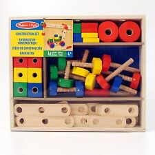 Wooden Construction Set Melissa and Doug 48 Pieces with Box Age 3+ NEW