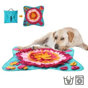 "Snuffle Puzzle mat for Dogs Large(28""x28""), Dog activity Mat, Dog Sniffing Mat"
