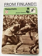 JESSE OWENS 1979 FINNISH Sportscaster card - TRACK AND FIELD - From Finland