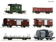 Roco HO 76051 6 piece goods wagon set Gotthardbahn, Swiss SBB