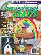Inspirational Crafts Magazine Summer 1998 Cross of Roses, Bible Cover