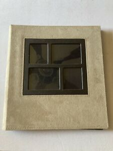 """2 Leather Photo Albums  13""""-131/2""""-1 1/2""""  260 4 by 6 photos each Used"""