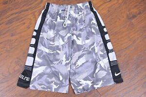Nike Dri-Fit Elite Basketball Shorts Gray Camo Men's Small S