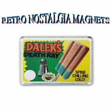 RETRO WALLS -DOCTOR WHO - DALEKS  DEATH RAY LOLLY ADVERT JUMBO FRIDGE MAGNET