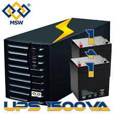 UPS 1500VA Gruppo Di Continuità con Doppia Batteria 3 prese Bivalenti AC RESTART