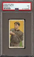 Rare 1909-11 T206 Barney Pelty Vertical Old Mill Back St Louis PSA 3 VG