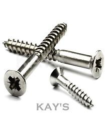 """No.6x1.1/4""""(32mm) A2 Stainless Steel Pozi Countersunk Wood Screws. Pack of 100"""