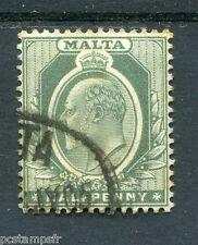 MALTE - MALTA, 1904-10, timbre CLASSIQUE 26, EDOUARD VII, oblitéré, VF stamp