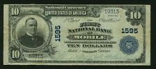"U.S. 1902  $10 NATIONAL BANKNOTE, MOBILE, ALABAMA  ""FIRST NATIONAL BANK"""