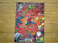 1994 FLEER AMAZING SPIDER-MAN OVERSIZED 9-CARD PROMO SIGNED BY MARK BAGLEY ART