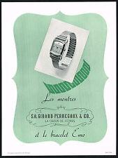 1940's Vintage 1945 Girard Perregaux Bracelet Watch Mid Century Design Print AD