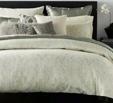 Donna Karan Home EXHALE COLLECTION PAIR of 2 EUROPEAN Shams Ivory $380 NEW
