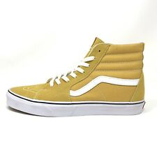 Vans Sk8 Hi Ochre White Yellow Men's 11.5 Skate Shoes New