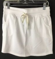 GAP Collegiate Skirt Casual NEW Crisp White Fleece Drawstring Waist SZ XS,S
