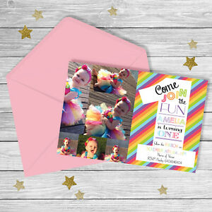 Rainbow FIRST Birthday Invitation {Digital File} PARTY PRINTABLE