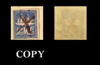 Rare Trinidad The Lady McLeod local stamp, 1847 over  fragment  $ 60,000 Copy