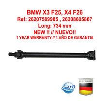 Cardan o transmision BMW X3 F25, X4 F26  26207589985 , 26208605867 NUEVO !!