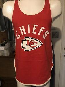 """Kansas City Chiefs ringer Tank Top Shirt junk food Throw Back XL Adult 38"""" EUC"""