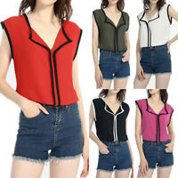 Plus Size Chiffon Blouses Tops Sleeveless White Shirt Fashion Women's Clothing