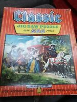 Classic No 10 The Highwaymen 500 piece Jigsaw Puzzle Rare Vintage 1960 Complete