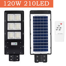 US 120W LED Solar Commercial Wall Street Light PIR Motion Sensor Garden Lamp
