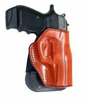 Leather Paddle Holster Open Top Fits, Bersa Thunder BP9CC 9/40mm 3.3''BBL #1345#