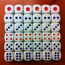 Lot Of 10 Standard Plastic White party Game Dice Die Playing Game Dice 10mm