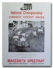 1966 Manzanita Speedway Sprint Car Racing vintage reproduction poster 60's race