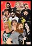 Wrestling Legends Daniel Bryan Randy Orton Paige Art Print 8x10 Inches Numbered