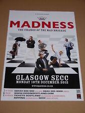 MADNESS - rare tour concert / gig poster - dec 2012