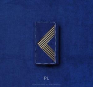 For Cowon Plenue L Alcantara Genuine Leather Case Cover Blue&Gold Edition