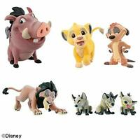 Disney character Fluffy Puffy LION KING & Villains 7 set figure Anime From JAPAN