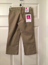 Arthur's A+ Durable Wear Youth Girls Size 4 Reg. Beige School Pants New! ❤