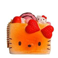 Sanrio Hello Kitty Squishy Sweet Toast Ball Chain Charm Accessory (Strawberry)